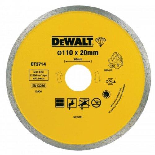 Dia kotouč pro řezačku obkladů DWC410 na řezání dlaždic 110x20mm DeWALT DT3714