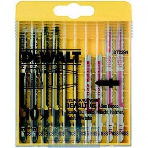 10-ti dílná sada pilových plátků mix na dřevo a kov pro přímočaré pily DeWALT DT2294
