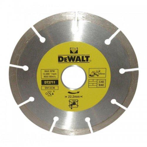 Dia kotouč profi ze slinutých karbidů na suché řezání betonu a cihel 125x22,2mm DeWALT DT3711