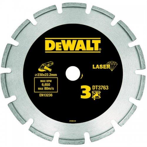 Dia kotouč Laser 3 na tvrdé materiály, žulu, vyztužený beton 300x20mm DeWALT DT3764