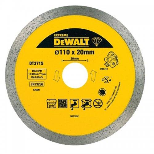 Dia kotouč pro řezačku obkladů DWC410 na řezání žuly 110x20mm DeWALT DT3715