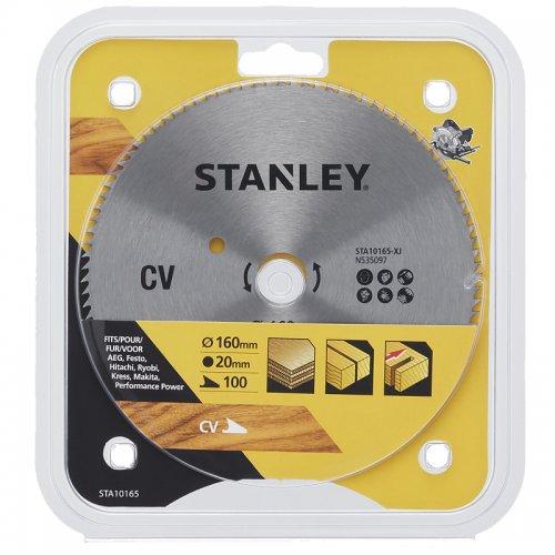 Pilový kotouč pro příčné řezy 160 x 20 mm, 100 zubů Stanley STA10165