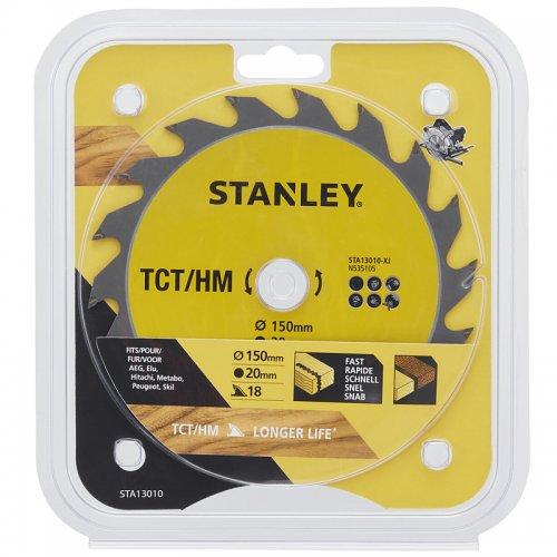 Pilový kotouč TCT/HM pro podélné řezy 150 x 20 mm, 18 zubů Stanley STA13010