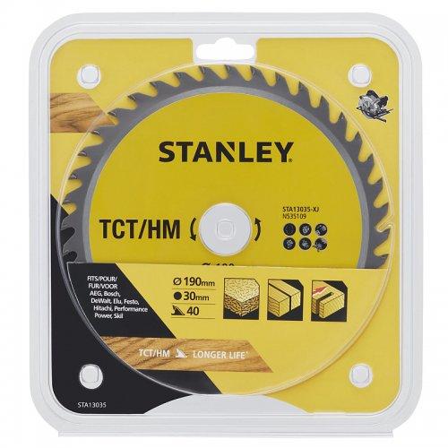 Pilový kotouč TCT/HM pro příčné řezy 190 x 30 mm, 40 zubů Stanley STA13035