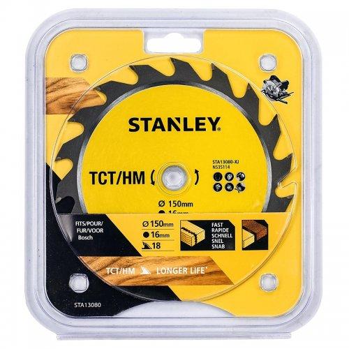 Pilový kotouč TCT/HM pro podélné řezy 150 x 16 mm, 18 zubů Stanley STA13080