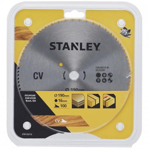 Pilový kotouč pro příčné řezy 190 x 16 mm, 100 zubů Stanley STA10215