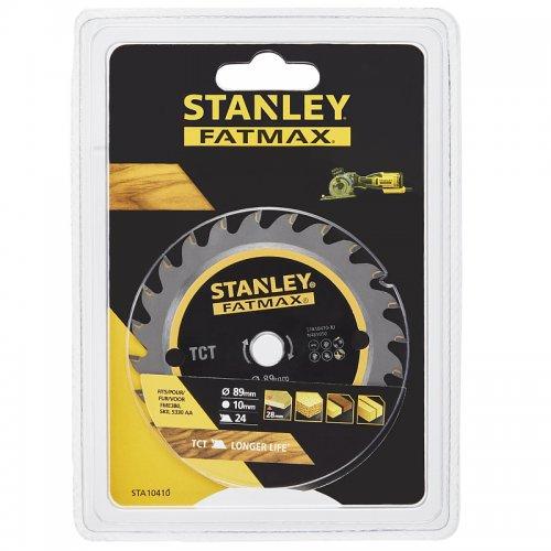 Pilový kotouč na dřevo TCT 89 x 10 mm, 24 zubů Stanley STA10410