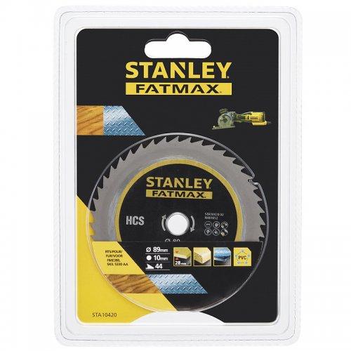 Pilový kotouč na dřevo, překližku, plast, kov HCS 89 x 10 mm, 44 zubů Stanley STA10420