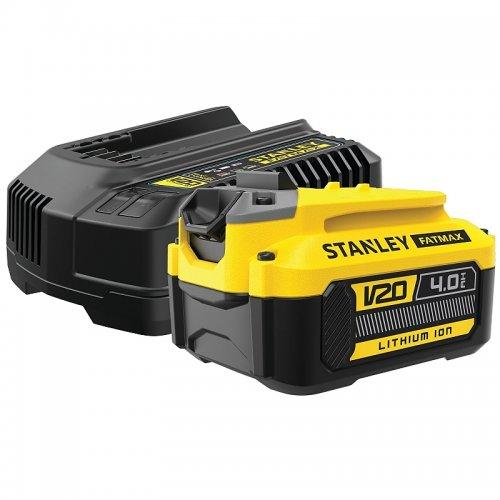 Akumulátor V20 4,0Ah a nabíječka Stanley FatMax SFMCB14M1