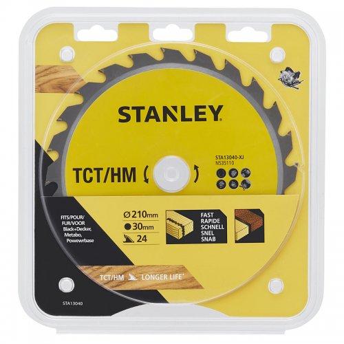 Pilový kotouč TCT/HM pro podélné řezy 210 x 30 mm, 24 zubů Stanley STA13040