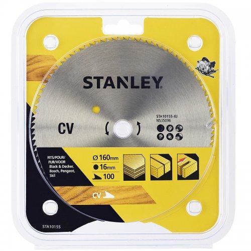 Pilový kotouč pro příčné řezy 160 x 16 mm, 100 zubů Stanley STA10155