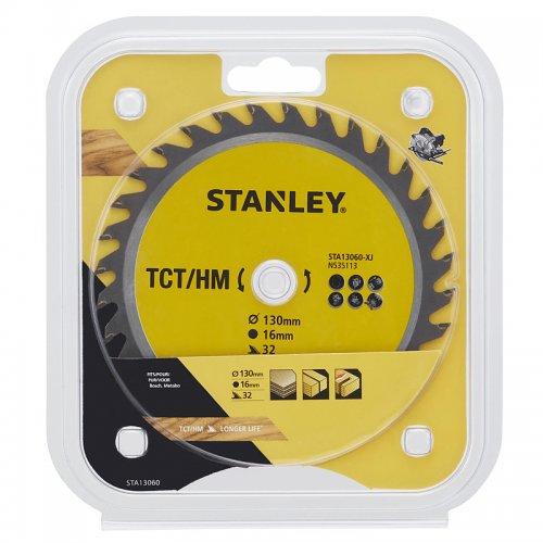 Pilový kotouč TCT/HM pro příčné řezy 130 x 16 mm, 32 zubů Stanley STA13060