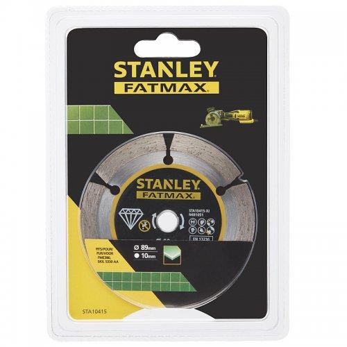 Diamantový segmentový rozbrušovací kotouč 89 x 10 mm Stanley STA10415