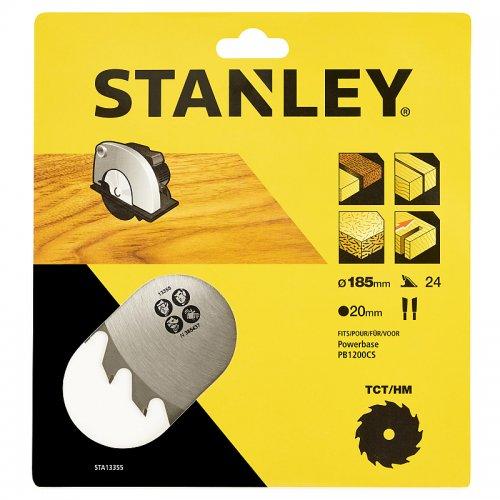 Pilový kotouč TCT/HM pro podélné řezy 185 x 20 mm, 24 zubů Stanley STA13355