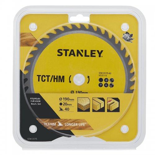 Pilový kotouč TCT/HM pro příčné řezy 190 x 20 mm, 40 zubů Stanley STA13175