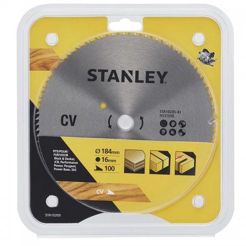 Pilový kotouč pro příčné řezy 184 x 16 mm, 100 zubů Stanley STA10205