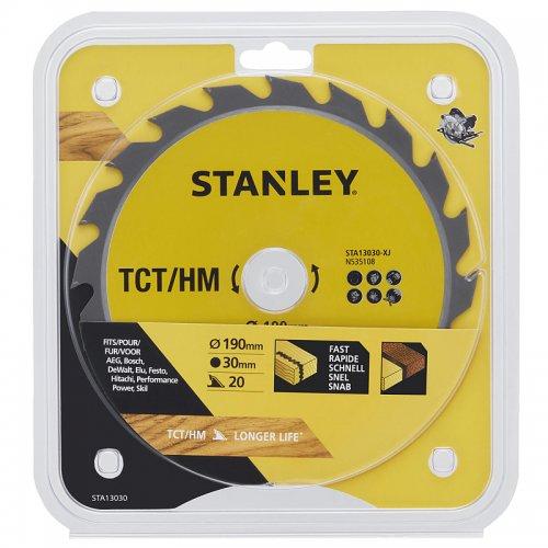 Pilový kotouč TCT/HM pro podélné řezy 190 x 30 mm, 20 zubů Stanley STA13030