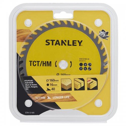 Pilový kotouč TCT/HM pro příčné řezy 160 x 16 mm, 40 zubů Stanley STA13105