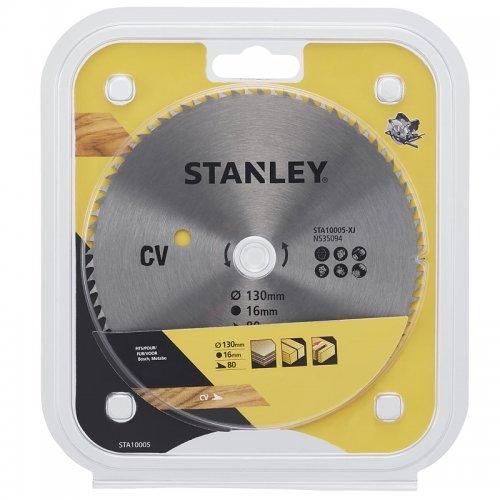 Pilový kotouč pro příčné řezy 130 x 16 mm, 80 zubů Stanley STA10005