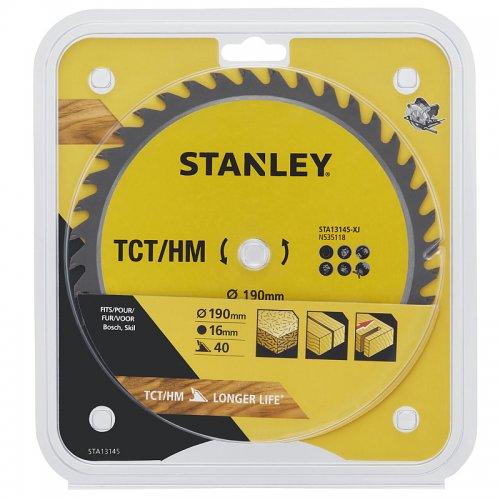 Pilový kotouč TCT/HM pro příčné řezy 190 x 16 mm, 40 zubů Stanley STA13145
