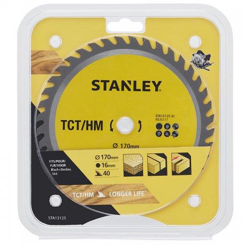 Pilový kotouč TCT/HM pro příčné řezy 170 x 16 mm, 40 zubů Stanley STA13125