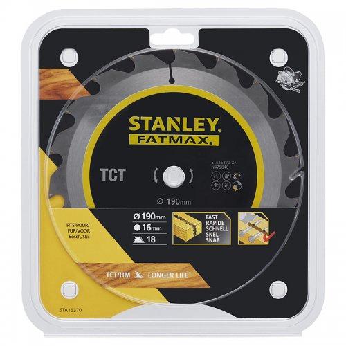 Pilový kotouč TCT/HM brousitelný pro podélné řezy 190 x 16 mm, 18 zubů Stanley STA15370